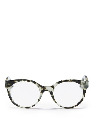 Main View - Click To Enlarge - Tory Burch - Snakeskin effect temple optical glasses