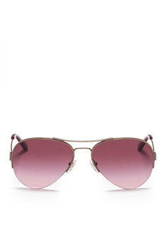 TORY BURCH'Classic' opaque tip aviator sunglasses