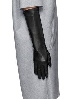 MAISON FABRE'Moyen' long lamb leather gloves