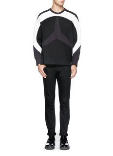 NEIL BARRETTStar panel bonded jersey sweatshirt