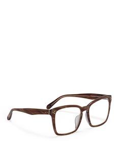 LINDA FARROWAcetate square frame optical glasses
