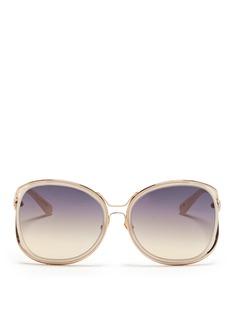 LINDA FARROWSuspended acetate rim wire sunglasses