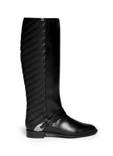 STUART WEITZMAN'Raceway' quilt leather boots