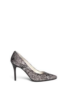 STUART WEITZMAN'Lace Flirt' lace glitter pumps