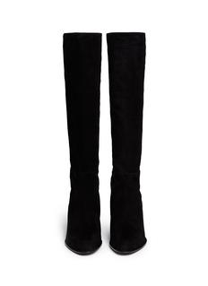 STUART WEITZMAN'Halfnhalf' elastic back suede boots