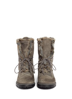 STUART WEITZMAN'Bobsled' faux fur suede boots