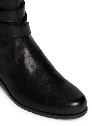 Detail View - Click To Enlarge - Stuart Weitzman - 'Ranchdressing' buckle nappa leather boots
