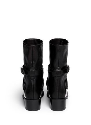 Back View - Click To Enlarge - Stuart Weitzman - 'Ranchdressing' buckle nappa leather boots
