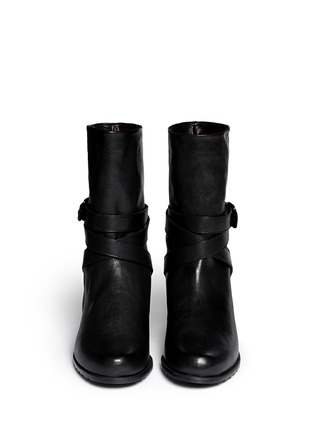 Figure View - Click To Enlarge - Stuart Weitzman - 'Ranchdressing' buckle nappa leather boots