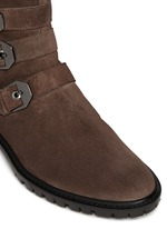 'Jitterbug' suede buckle boots