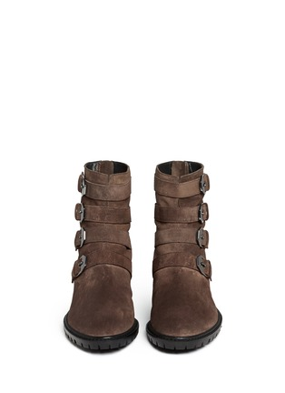 Figure View - Click To Enlarge - Stuart Weitzman - 'Jitterbug' suede buckle boots