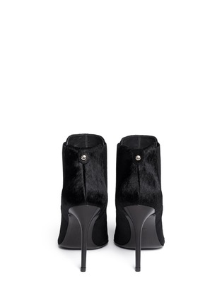 Back View - Click To Enlarge - Stuart Weitzman - 'Apogee' pony hair ankle boots