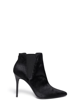 Main View - Click To Enlarge - Stuart Weitzman - 'Apogee' pony hair ankle boots