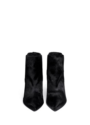 Figure View - Click To Enlarge - Stuart Weitzman - 'Apogee' pony hair ankle boots