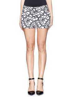 DIANE VON FURSTENBERG'Napoli' floral jacquard shorts