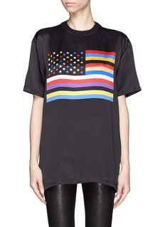 GIVENCHYAmerican flag print silk T-shirt