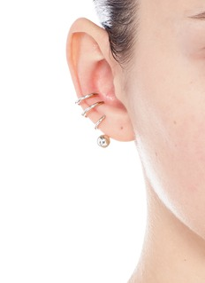 Maria Black 'Phoenix' pierced spiral sterling silver single ear cuff