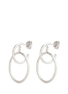 Maria Black'Norma Medi' double hoop sterling silver earrings