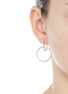Maria Black 'Norma Medi' double hoop sterling silver earrings