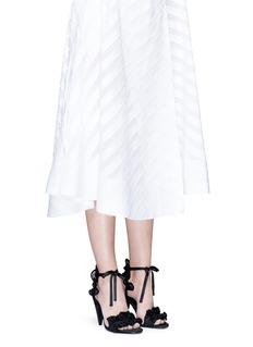 Stella LunaRuffle twill dot lace sandals