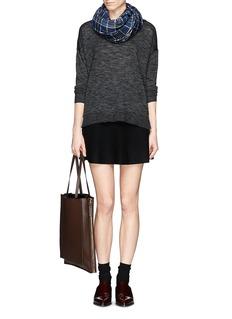 THEORY'Bellane' split side space dye wool sweater