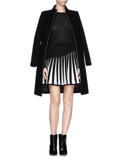 RVN'Diamond Circular' jacquard flare skirt