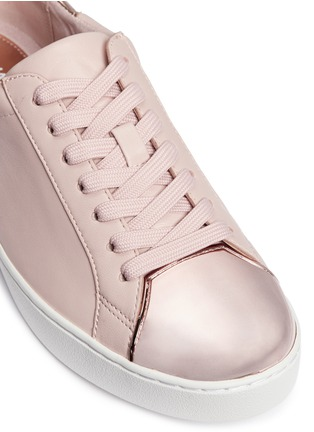 Detail View - Click To Enlarge - Michael Kors - 'Frankie' mirror toe cap leather sneakers