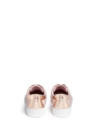 Back View - Click To Enlarge - Michael Kors - 'Frankie' mirror toe cap leather sneakers
