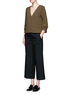 TopshopV-neck stripe blouse