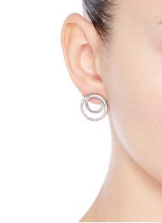 CZ by Kenneth Jay LaneInfinity hoop cubic zirconia pavé earrings