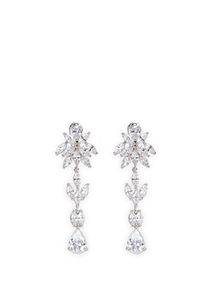 CZ by Kenneth Jay Lane Floral cubic zirconia drop earrings