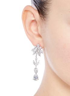 CZ by Kenneth Jay LaneFloral cubic zirconia drop earrings