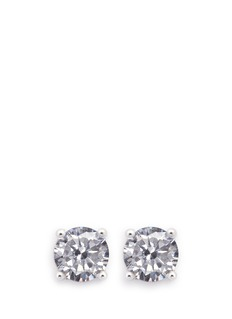CZ by Kenneth Jay Lane Round cut cubic zirconia small stud earrings