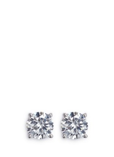 CZ by Kenneth Jay Lane Round cut cubic zirconia medium stud earrings