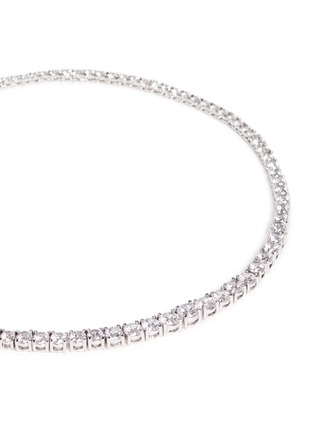 Detail View - Click To Enlarge - CZ by Kenneth Jay Lane - Round cut cubic zirconia choker necklace