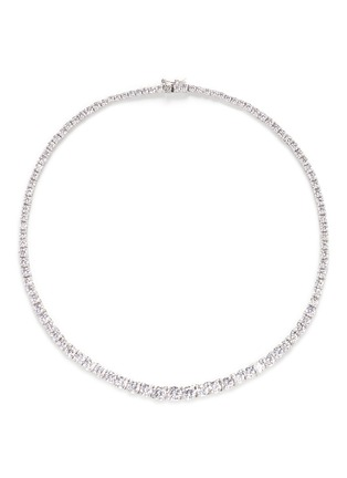 Main View - Click To Enlarge - CZ by Kenneth Jay Lane - Round cut cubic zirconia choker necklace