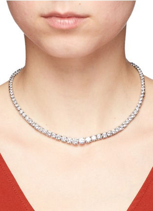 Figure View - Click To Enlarge - CZ by Kenneth Jay Lane - Round cut cubic zirconia choker necklace