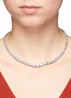 CZ by Kenneth Jay LaneRound cut cubic zirconia choker necklace