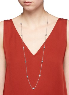 CZ by Kenneth Jay LaneCubic zirconia station chain necklace