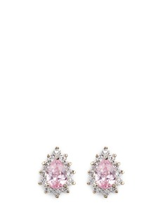 CZ by Kenneth Jay Lane Pear cut cubic zirconia stud earrings