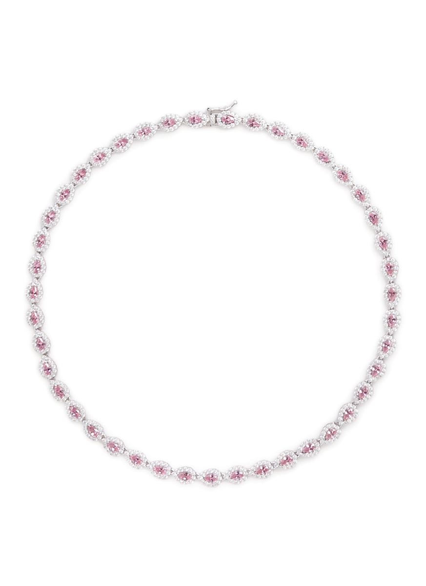 Pear cut cubic zirconia choker necklace by CZ by Kenneth Jay Lane