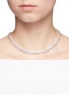 CZ by Kenneth Jay LanePear cut cubic zirconia choker necklace