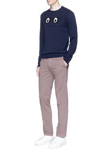 AlteaFace logo intarsia cotton sweater