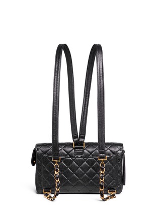 Back View - Click To Enlarge - Vintage Chanel - 2.55 quilted leather backpack