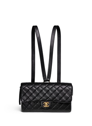 Main View - Click To Enlarge - Vintage Chanel - 2.55 quilted leather backpack