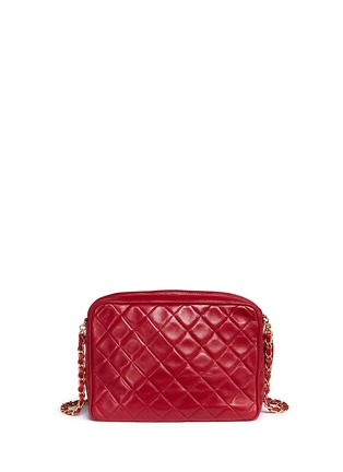 Back View - Click To Enlarge - Vintage Chanel - Small quilted lambskin leather camera bag