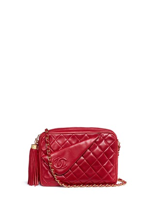 Main View - Click To Enlarge - Vintage Chanel - Small quilted lambskin leather camera bag