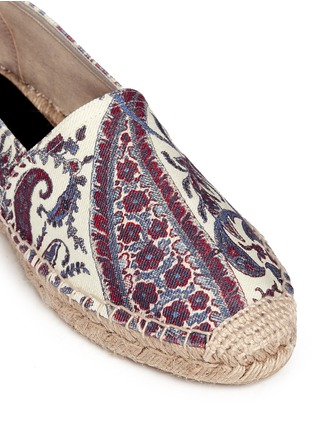 Detail View - Click To Enlarge - Isabel Marant Étoile - 'Cana' paisley print cotton espadrille flats