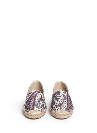 Front View - Click To Enlarge - Isabel Marant Étoile - 'Cana' paisley print cotton espadrille flats