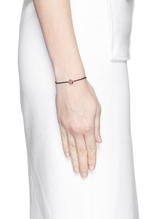 Ruifier'Sassy' 18k rose gold charm cord bracelet